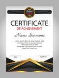 Certificado de logro, diploma recompensa Ganar el competi Foto de archivo libre de regalías