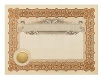 Certificado de lujo imagenes de archivo