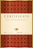 Certificado de modelo de la terminación Imagen de archivo