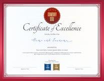 Certificado de plantilla de la excelencia libre illustration