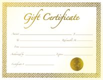 Certificado de presente Foto de Stock Royalty Free