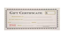 Certificado de presente Imagens de Stock