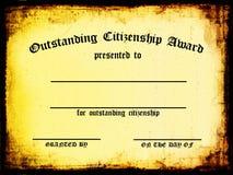 Certificado de terminación Fotografía de archivo libre de regalías