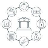 Certificado del dinero de depósito stock de ilustración
