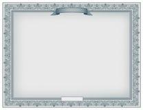 Certificado detallado Imagen de archivo libre de regalías