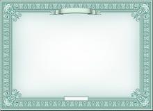 Certificado detallado Foto de archivo