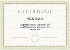 Certificado, diploma Fotografia de Stock