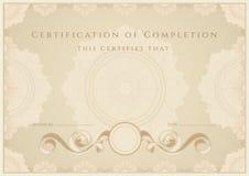 Certificado/diploma Fotografia de Stock Royalty Free