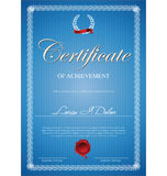 Certificado, diploma da conclusão Fotos de Stock