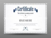 Certificado, diploma de la realización, certificado del logro d libre illustration