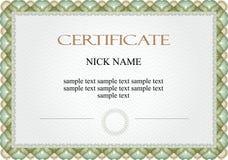 Certificado, diploma para la impresión fotos de archivo libres de regalías