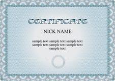 Certificado, diploma para la impresión foto de archivo libre de regalías