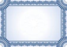 Certificado do diploma Imagens de Stock