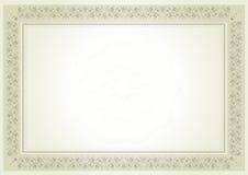 Certificado do diploma ilustração royalty free