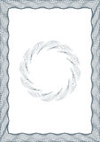 Certificado do espaço em branco do estilo do Guilloche ilustração royalty free