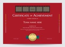 Certificado do molde da realização com espaço da foto no filme de filme ilustração stock