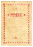 Certificado do prêmio do vintage Fotografia de Stock