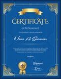 Certificado do quadro do vintage da realização Retrato Foto de Stock
