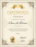 Certificado do retrato do quadro do vintage do reconhecimento Imagens de Stock Royalty Free