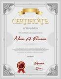 Certificado do retrato do quadro do vintage do reconhecimento Fotografia de Stock Royalty Free