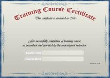 Certificado do treinamento ilustração do vetor