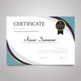 Certificado - documento elegante horizontal del vector stock de ilustración