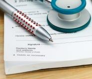 Certificado doente Foto de Stock