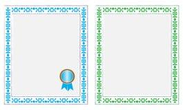 Certificado em branco Imagem de Stock Royalty Free