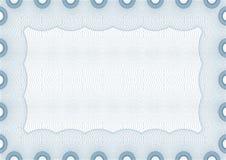 Certificado em branco seguro do vetor Imagens de Stock Royalty Free