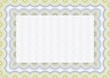 Certificado em branco seguro do vetor Imagem de Stock