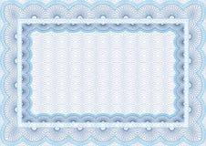 Certificado em branco seguro do vetor Imagens de Stock