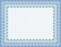 Certificado em branco seguro do vetor Foto de Stock