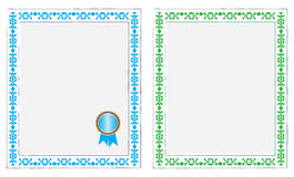 Certificado en blanco Imagen de archivo libre de regalías