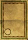 Certificado en blanco viejo con la frontera Imagen de archivo