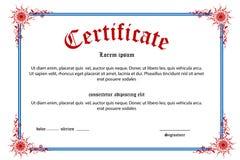 Certificado floral Imagen de archivo libre de regalías