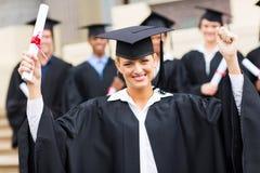 Certificado graduado de la universidad Imágenes de archivo libres de regalías