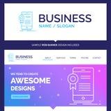 Certificado hermoso de la marca del concepto del negocio, certificación ilustración del vector