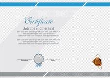 Certificado moderno oficial com bolacha e muitos logotipos Imagens de Stock Royalty Free