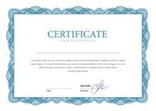 certificado Moeda dos diplomas do molde Foto de Stock