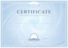 Certificado, molde do diploma. Teste padrão da concessão ilustração royalty free