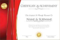 Certificado o diseño retro del diploma ilustración del vector