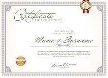 Certificado o diseño retro del vintage del diploma foto de archivo libre de regalías