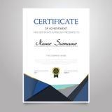 Certificado - original elegante vertical do vetor ilustração stock