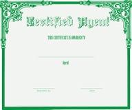 Certificado para el agente Fotos de archivo libres de regalías
