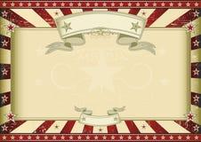 Certificado retro vermelho Textured ilustração do vetor