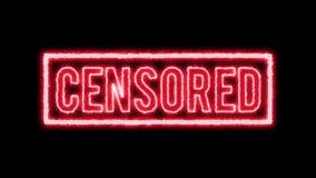 Certificado satisfeito censurado 4k do selo ilustração royalty free