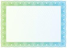 Certificado. Teste padrão para a moeda, diplomas do vetor Fotos de Stock