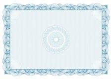 Certificado. teste padrão para a moeda e os diplomas Imagem de Stock Royalty Free