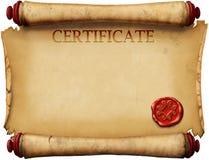 Certificados con el sello de la cera Imagen de archivo libre de regalías