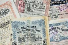 Certificados conservados em estoque Fotos de Stock